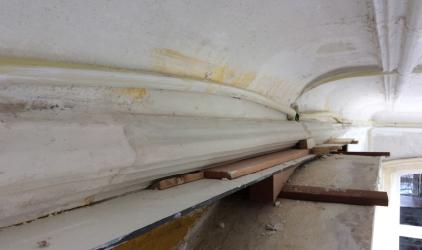 deur bovenkant werken oude ruimte