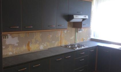 keuken zonder behang