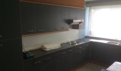 keuken met behang